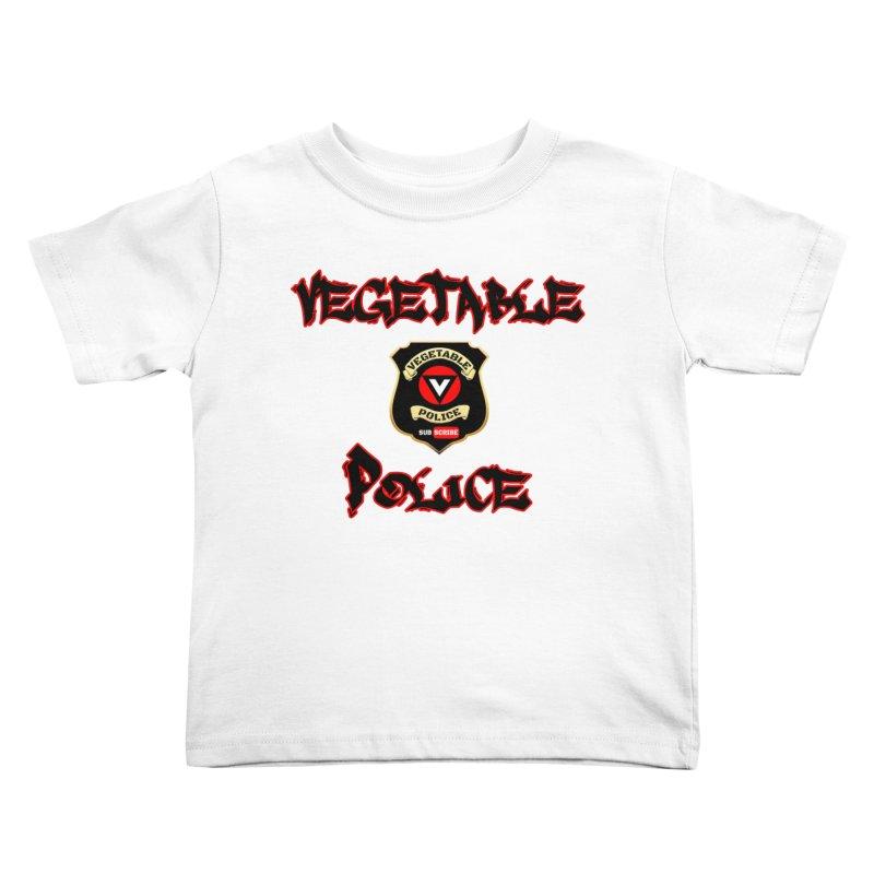 Vegetable Police Undercover (Black Graffiti) Kids Toddler T-Shirt by Vegetable Police