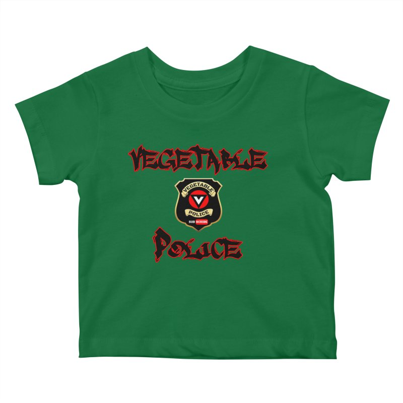 Vegetable Police Undercover (Black Graffiti) Kids Baby T-Shirt by Vegetable Police