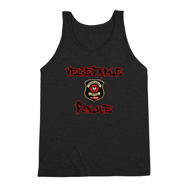 Vegetable Police Undercover (Black Graffiti) Men's Triblend Tank by Vegetable Police
