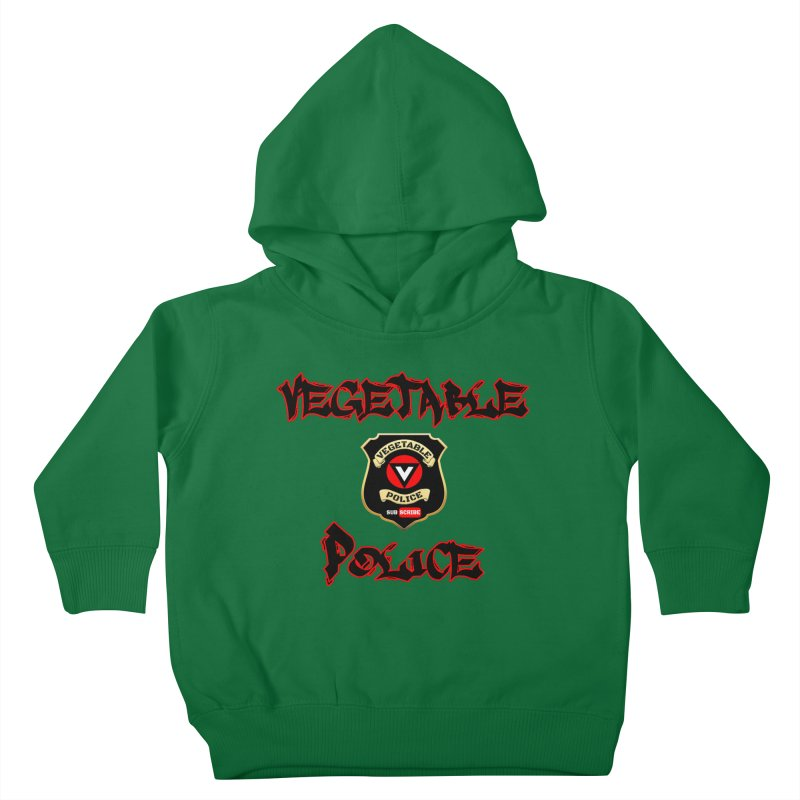 Vegetable Police Undercover (Black Graffiti) Kids Toddler Pullover Hoody by Vegetable Police