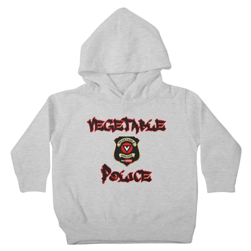 Vegetable Police Undercover (Black Graffiti) Kids Toddler Pullover Hoody by Vegetable Police