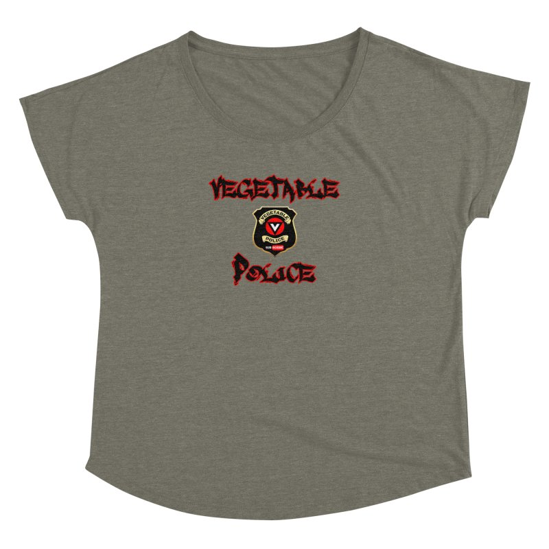 Vegetable Police Undercover (Black Graffiti) Women's Dolman Scoop Neck by Vegetable Police