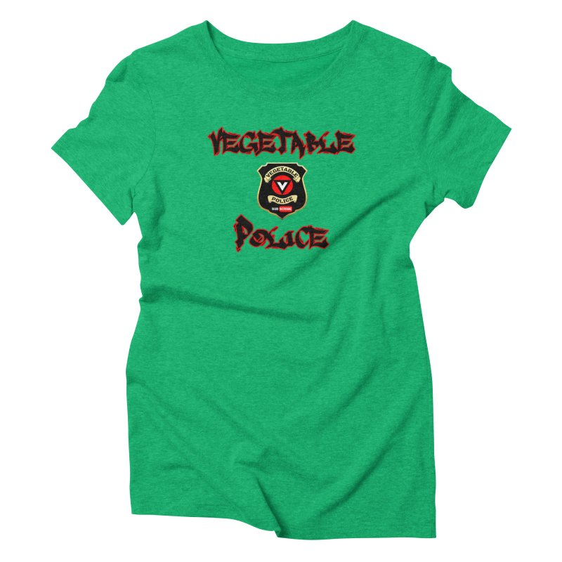 Vegetable Police Undercover (Black Graffiti) Women's Triblend T-Shirt by Vegetable Police