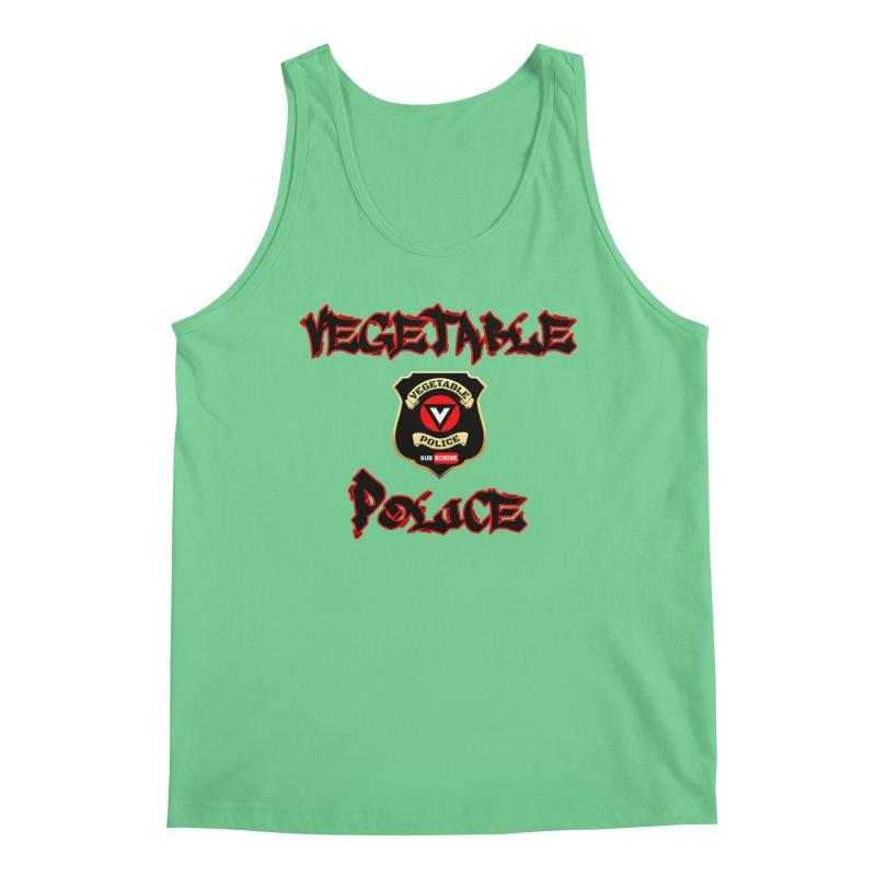 Vegetable Police Undercover (Black Graffiti) Men's Regular Tank by Vegetable Police