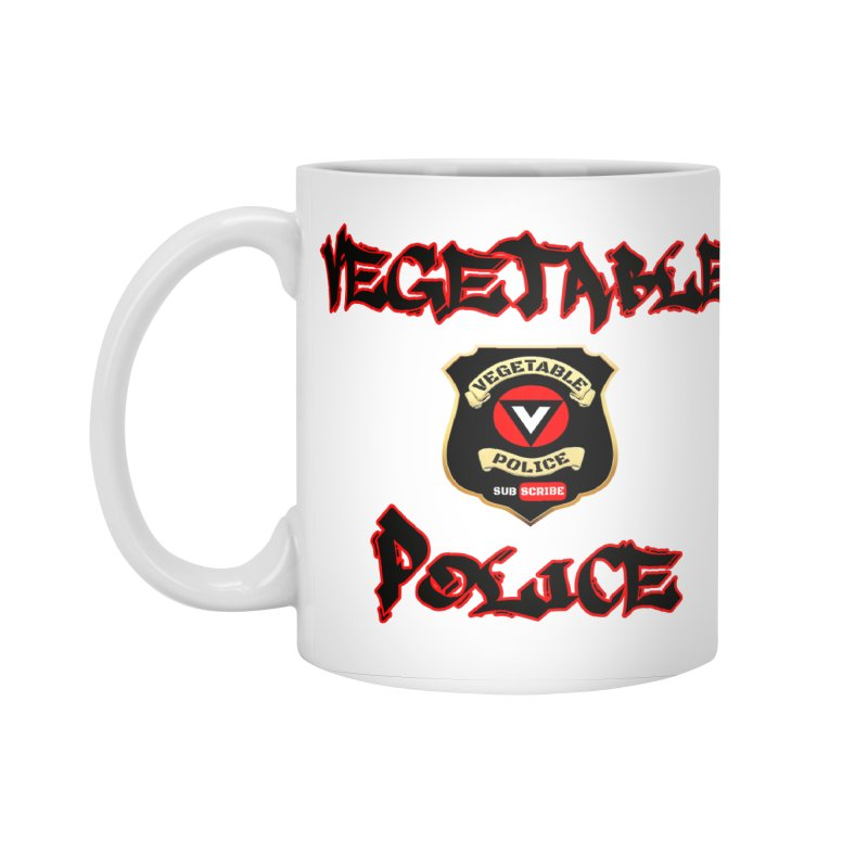 Vegetable Police Undercover (Black Graffiti) Accessories Standard Mug by Vegetable Police