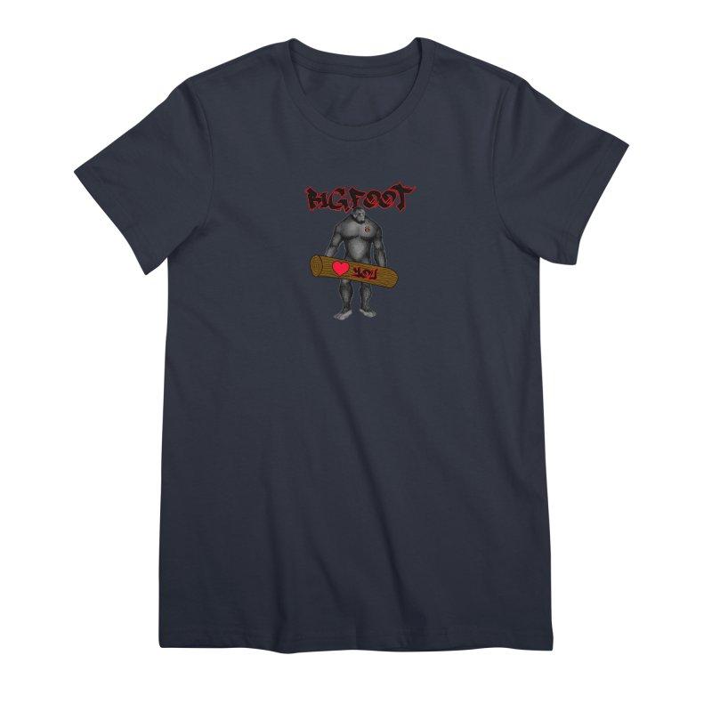 Bigfoot Women's Premium T-Shirt by Vegetable Police