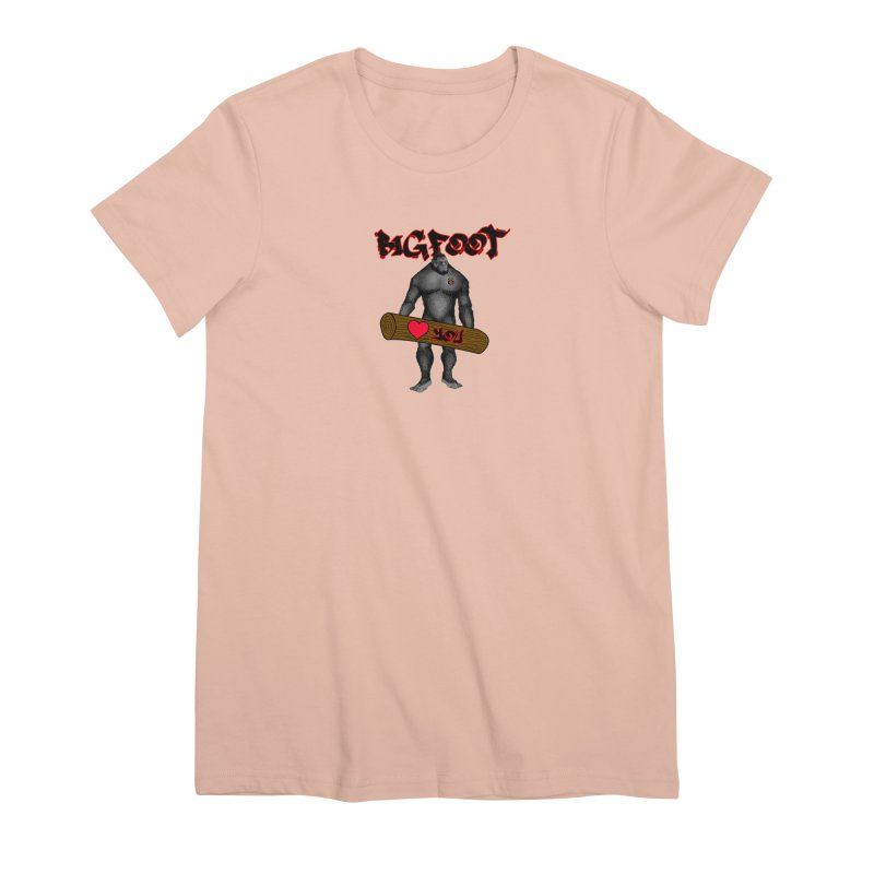 Bigfoot Women's Premium T-Shirt by Vegetable Police