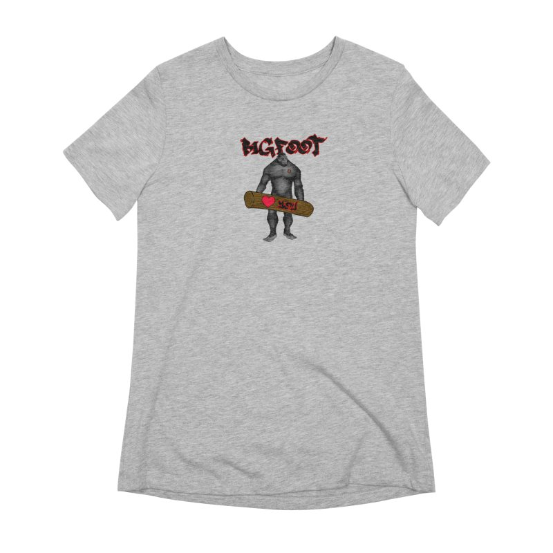 Bigfoot Women's Extra Soft T-Shirt by Vegetable Police