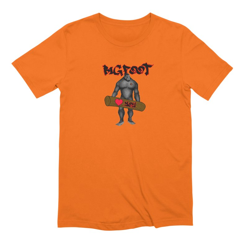 Bigfoot Men's Extra Soft T-Shirt by Vegetable Police
