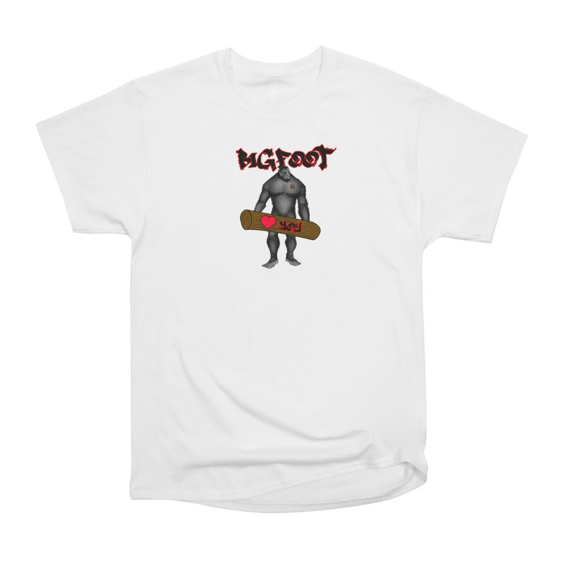Bigfoot Women's Heavyweight Unisex T-Shirt by Vegetable Police