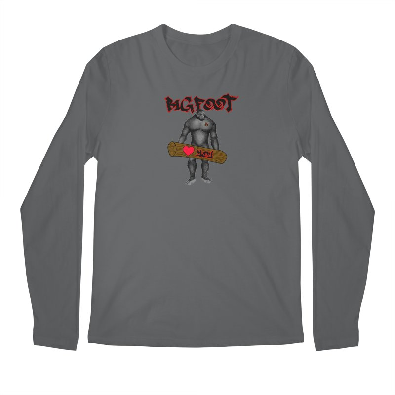 Bigfoot Men's Longsleeve T-Shirt by Vegetable Police