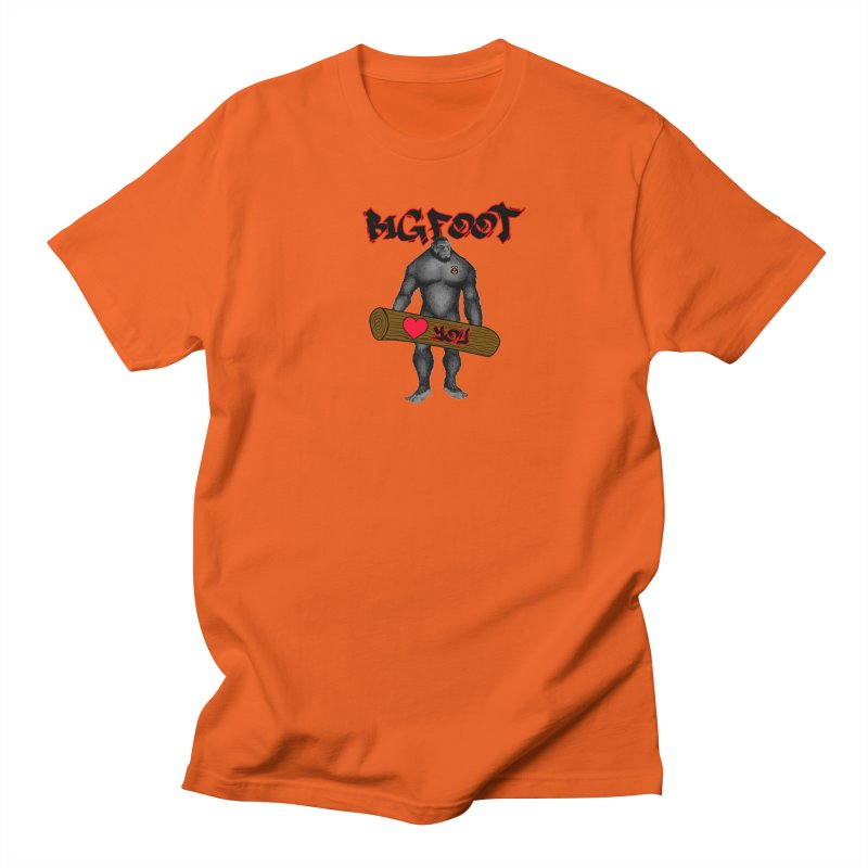 Bigfoot Men's Regular T-Shirt by Vegetable Police