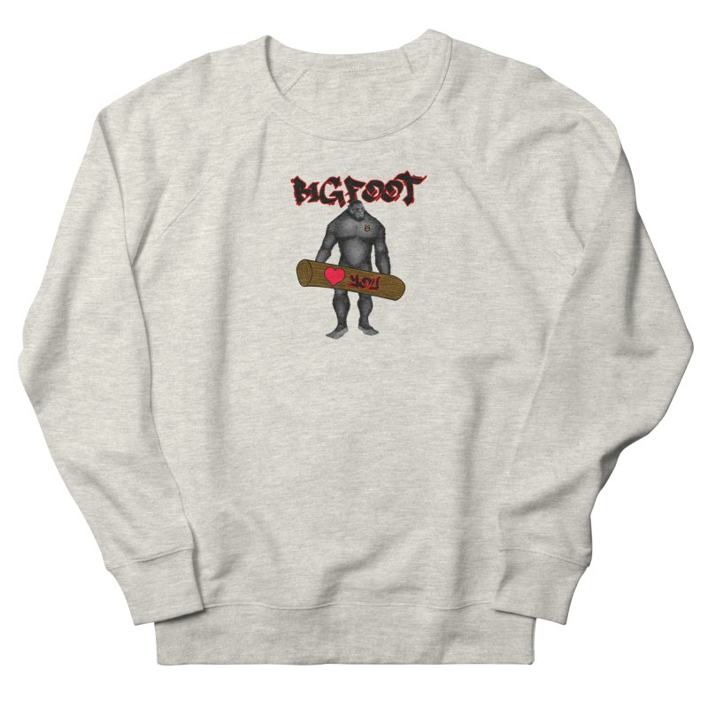 Bigfoot Women's French Terry Sweatshirt by Vegetable Police