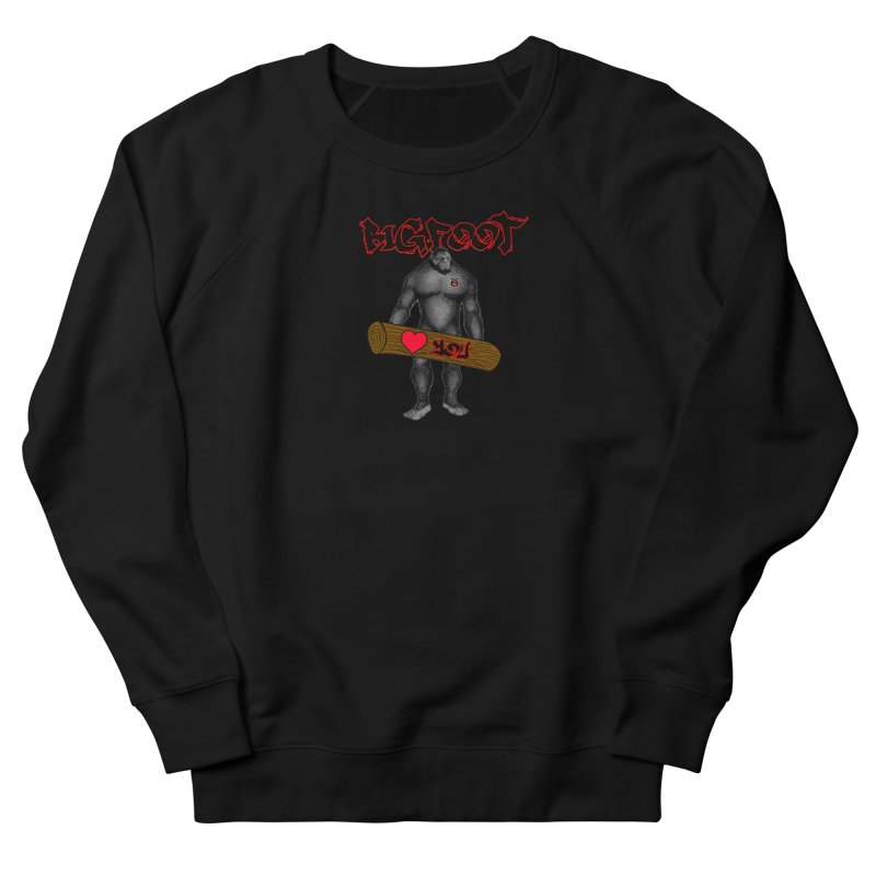 Bigfoot Men's French Terry Sweatshirt by Vegetable Police