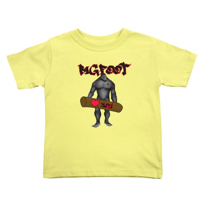 Bigfoot Kids Toddler T-Shirt by Vegetable Police