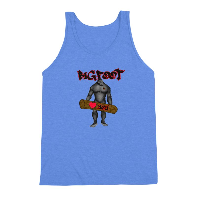 Bigfoot Men's Triblend Tank by Vegetable Police