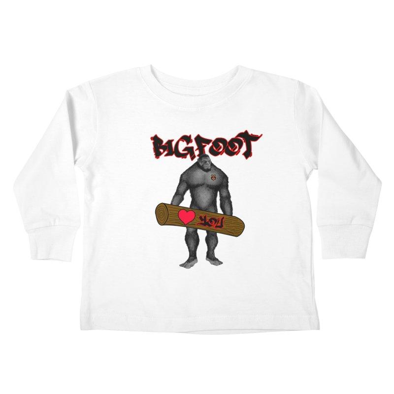 Bigfoot Kids Toddler Longsleeve T-Shirt by Vegetable Police