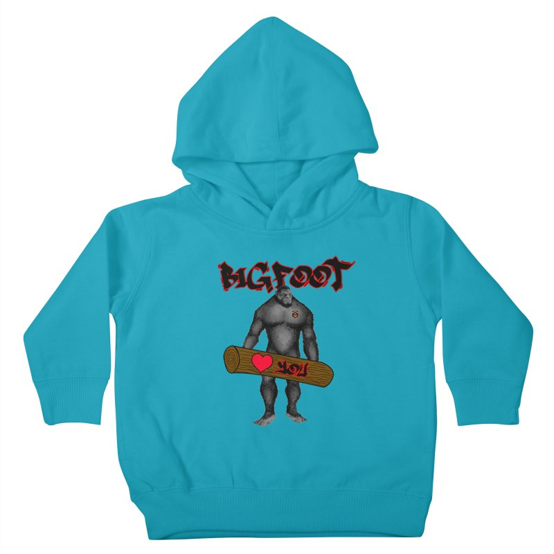 Bigfoot Kids Toddler Pullover Hoody by Vegetable Police