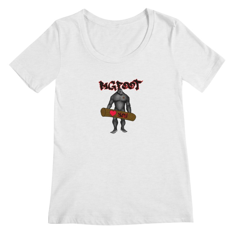 Bigfoot Women's Regular Scoop Neck by Vegetable Police
