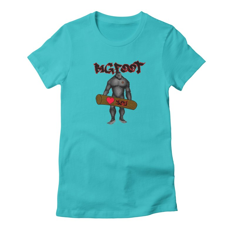 Bigfoot Women's Fitted T-Shirt by Vegetable Police