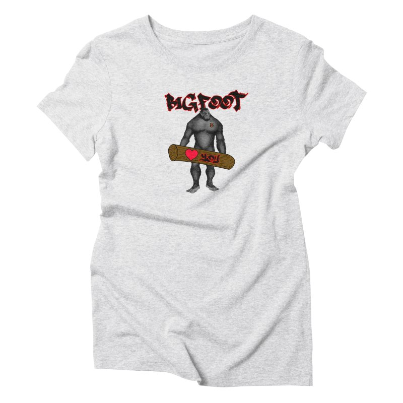 Bigfoot Women's Triblend T-Shirt by Vegetable Police