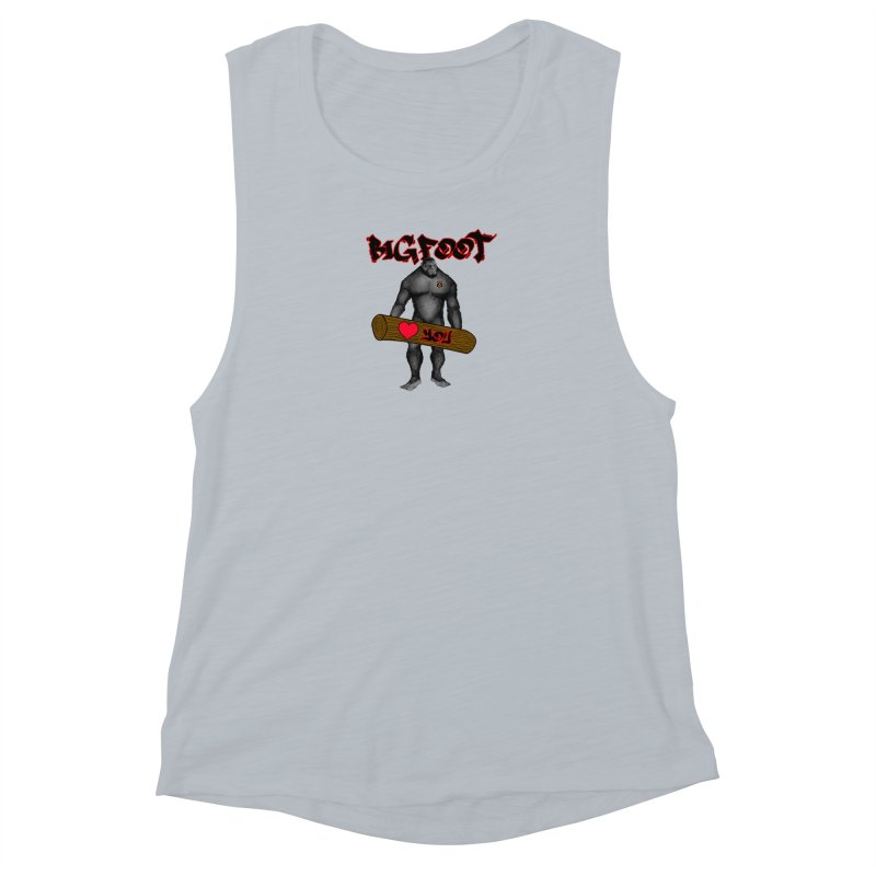 Bigfoot Women's Muscle Tank by Vegetable Police