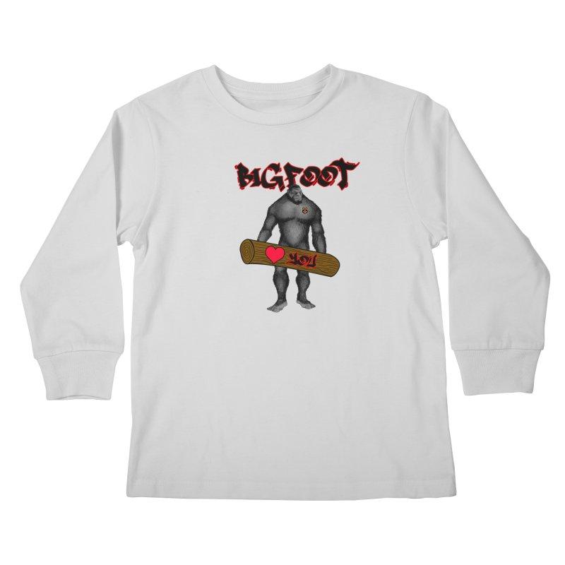 Bigfoot Kids Longsleeve T-Shirt by Vegetable Police