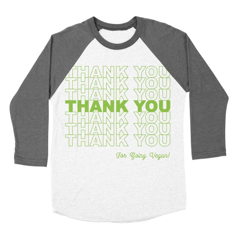 Thank You Women's Baseball Triblend Longsleeve T-Shirt by Vegnout SD's Artist Shop