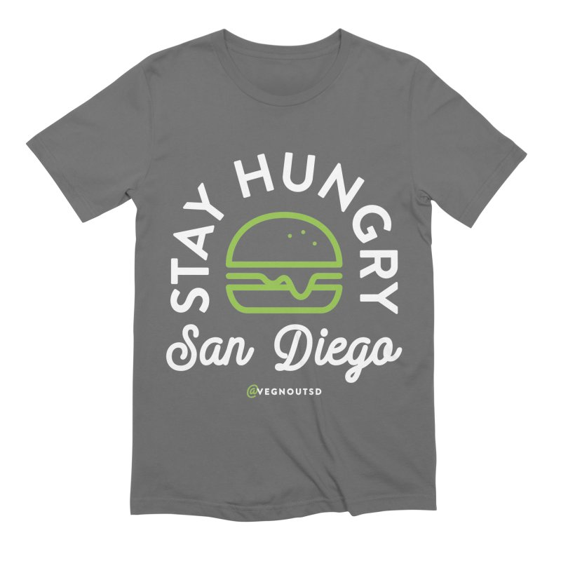 Stay Hungry Men's Extra Soft T-Shirt by Vegnout SD's Artist Shop