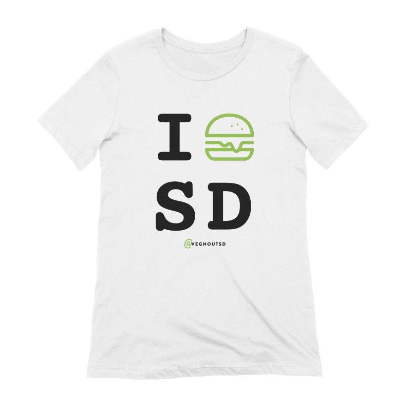I BURGER SD Women's Extra Soft T-Shirt by vegnoutsd's Artist Shop