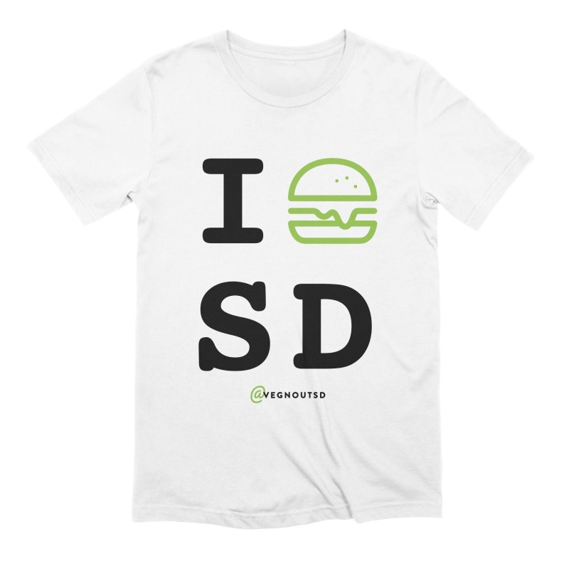 I BURGER SD Men's Extra Soft T-Shirt by vegnoutsd's Artist Shop