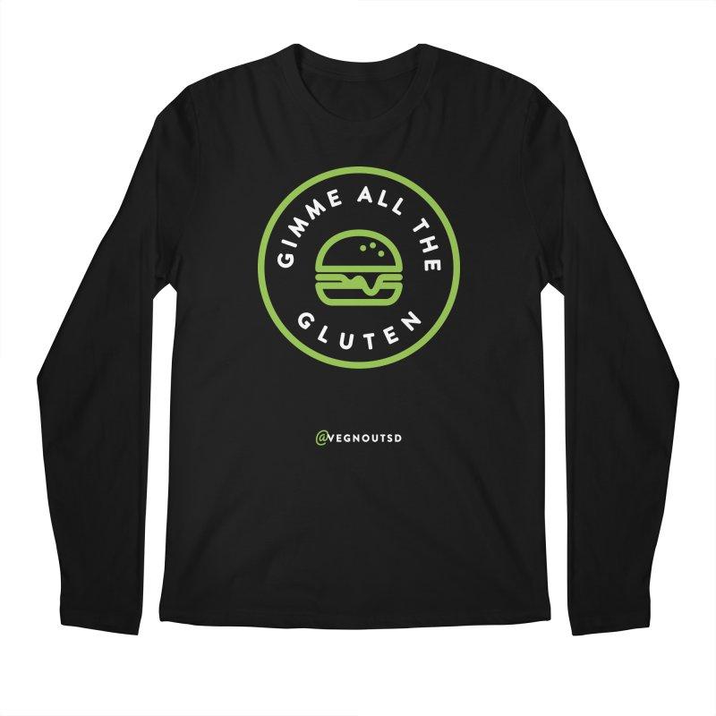 Gimme All The Gluten Men's Regular Longsleeve T-Shirt by Vegnout SD's Artist Shop