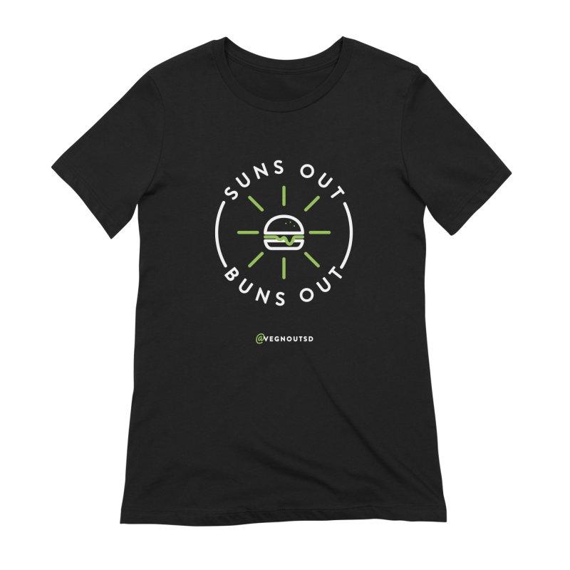 Suns Out Buns Out Women's Extra Soft T-Shirt by Vegnout SD's Artist Shop