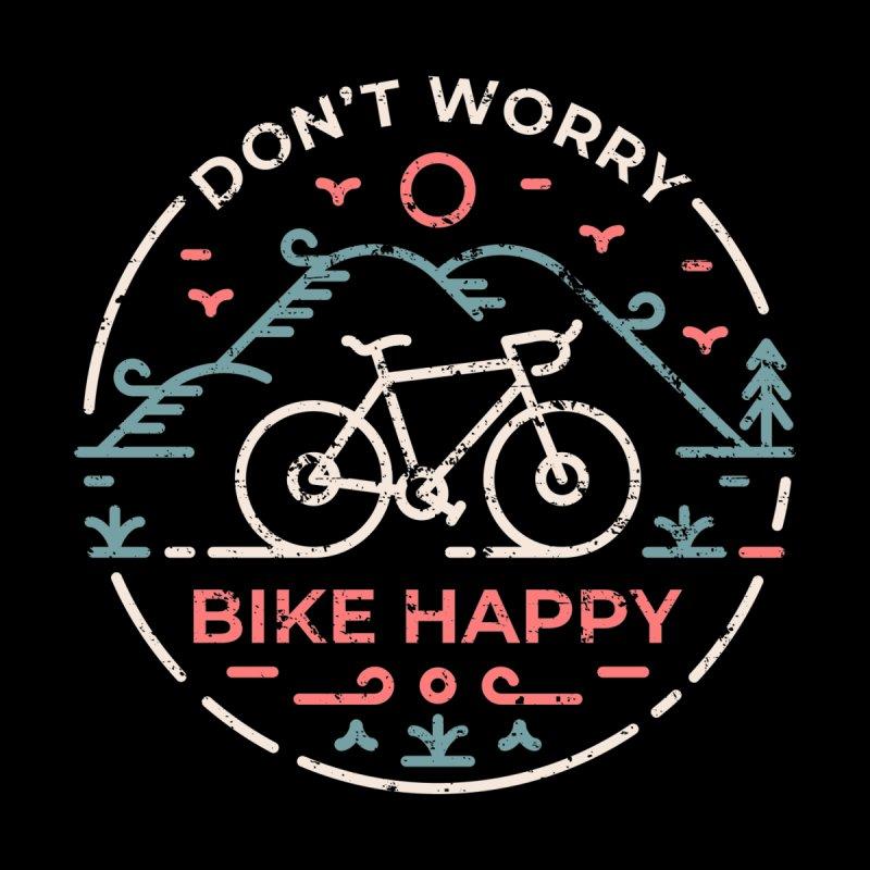 Don't Worry Bike Happy Men's T-Shirt by VEKTORKITA
