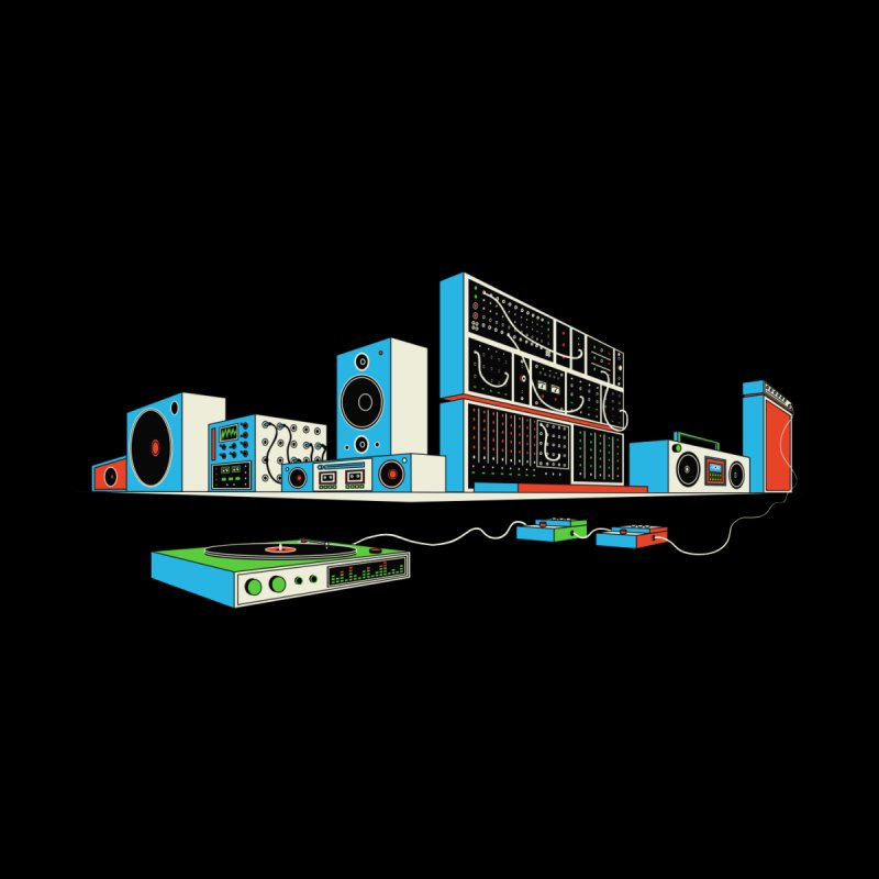 Boombox City Kids T-Shirt by velcrowolf
