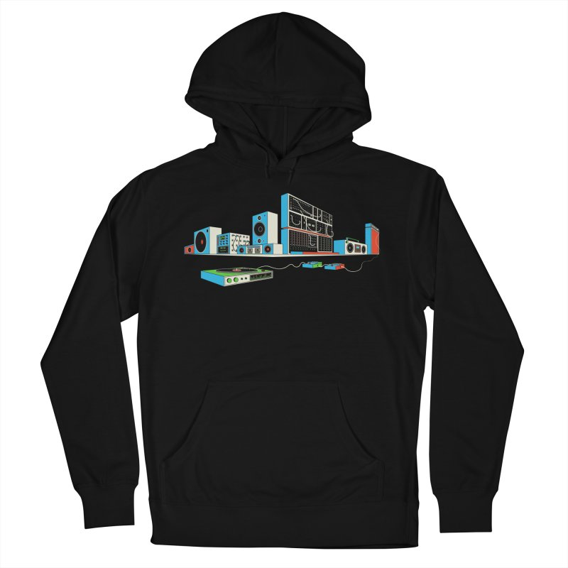 Boombox City Men's French Terry Pullover Hoody by velcrowolf