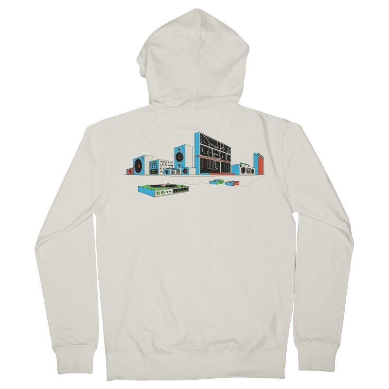 Boombox City Men's French Terry Zip-Up Hoody by velcrowolf