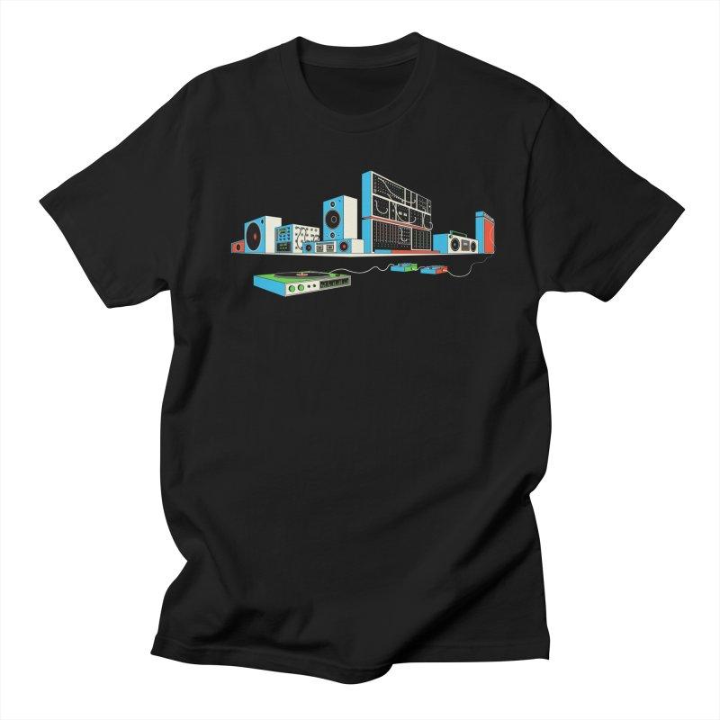 Boombox City Men's Regular T-Shirt by velcrowolf