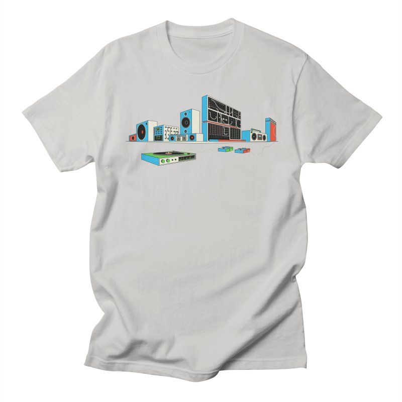 Boombox City Men's T-Shirt by velcrowolf