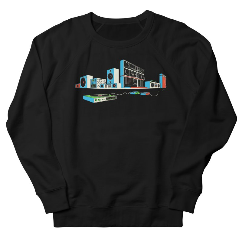 Boombox City Men's French Terry Sweatshirt by velcrowolf
