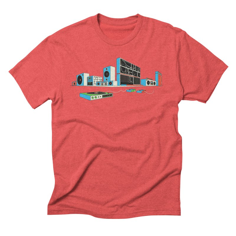 Boombox City Men's Triblend T-shirt by velcrowolf