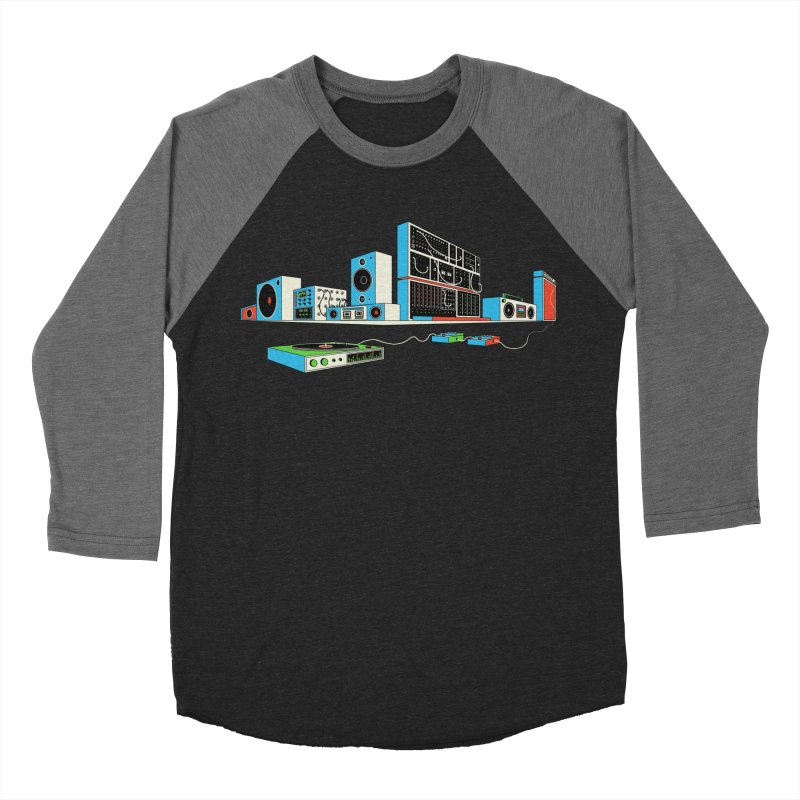 Boombox City Men's Baseball Triblend Longsleeve T-Shirt by velcrowolf