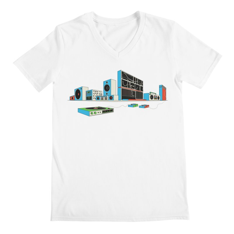 Boombox City Men's V-Neck by velcrowolf