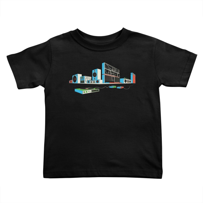 Boombox City Kids Toddler T-Shirt by velcrowolf