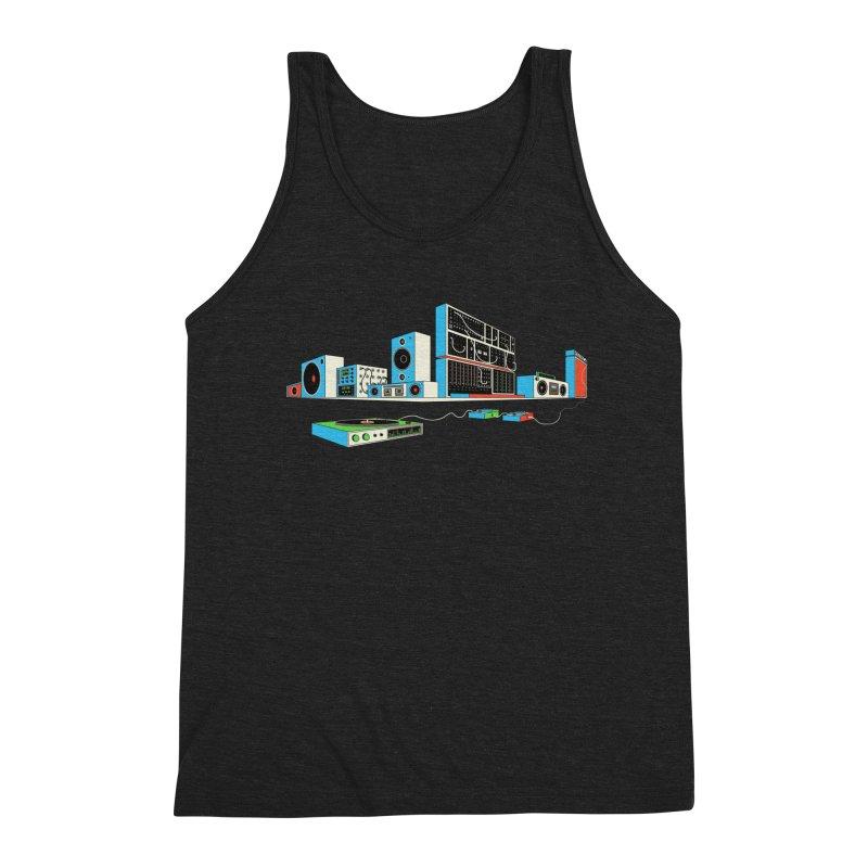 Boombox City Men's Triblend Tank by velcrowolf