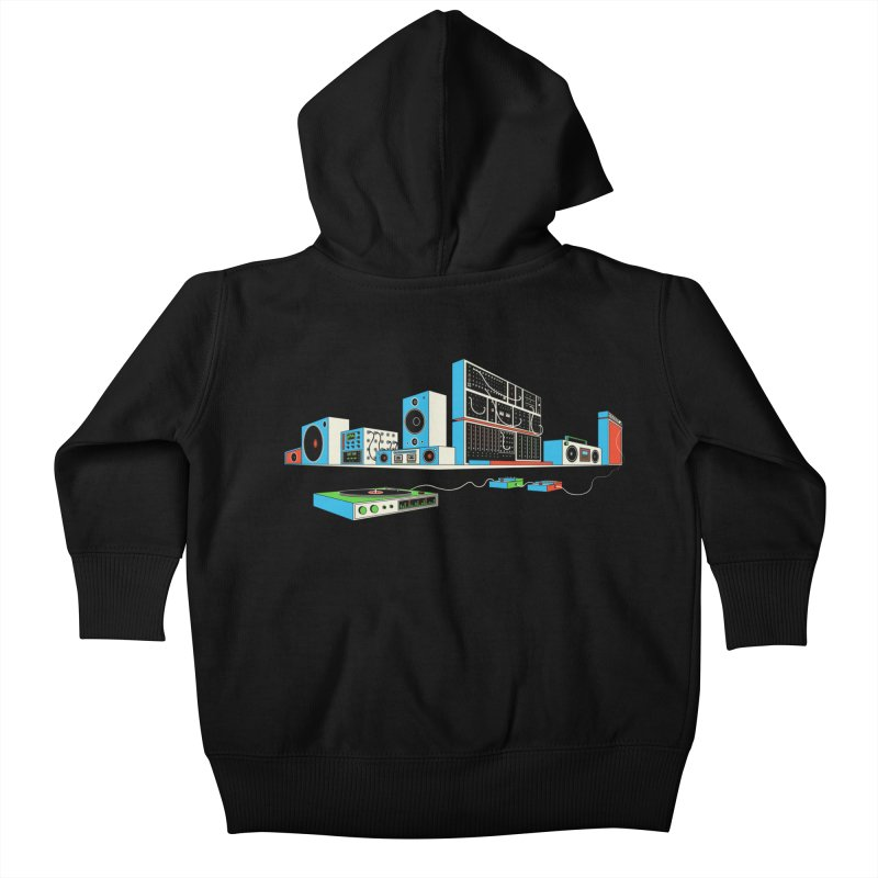 Boombox City Kids Baby Zip-Up Hoody by velcrowolf