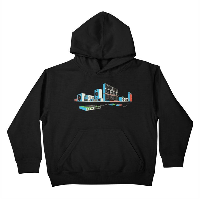 Boombox City Kids Pullover Hoody by velcrowolf
