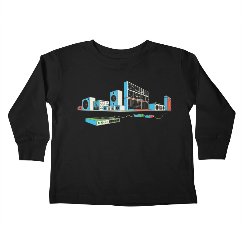 Boombox City Kids Toddler Longsleeve T-Shirt by velcrowolf