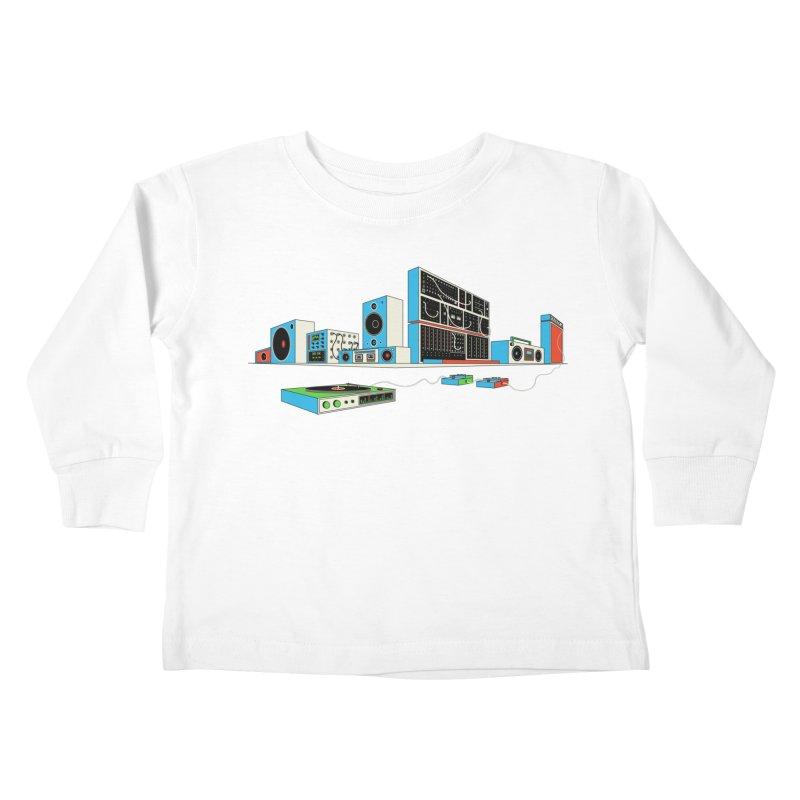 Boombox City Kids Toddler Longsleeve T-Shirt by velcrowolf