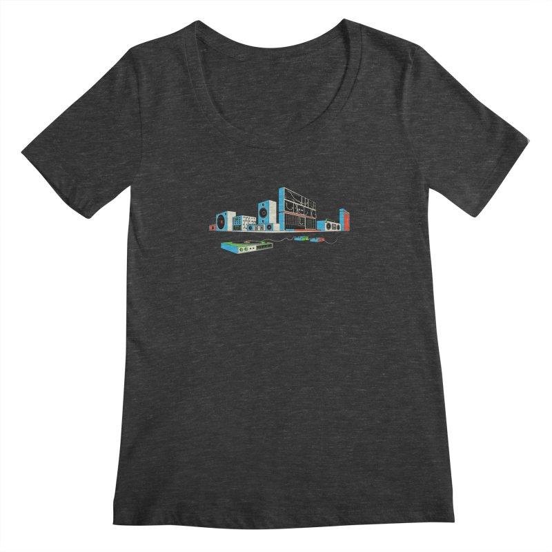 Boombox City Women's Scoopneck by velcrowolf